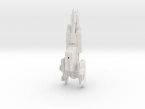 HALO. UNSC Charon Class Frigate 1:3000 in White Natural Versatile Plastic