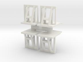 Crowd barrier (x4) 1/100 in White Natural Versatile Plastic