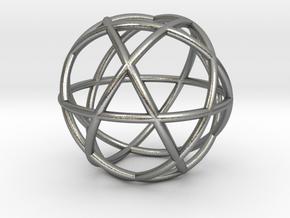 Penta Sphere pendant, small in Natural Silver
