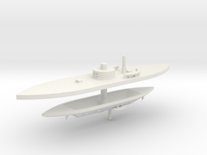 1/700  Passaic Class & CSS Richmond in White Natural Versatile Plastic
