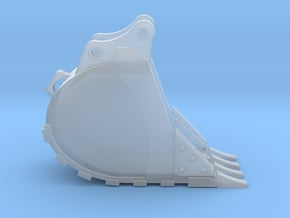 """1:50 24"""" Bucket for Hitachi ZX250 in Smooth Fine Detail Plastic"""