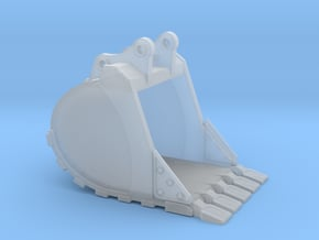"""1:50 48"""" Bucket+Spade teeth for Hitachi ZX250 in Smooth Fine Detail Plastic"""