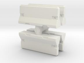 Traffic Barrier set (x4) 1/100 in White Natural Versatile Plastic