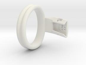 Q4e double ring L 54.1mm in White Premium Versatile Plastic
