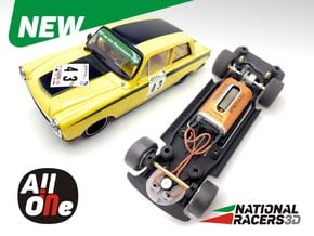 Chassis Revell Lotus Cortina (Inline AiO) in Black PA12