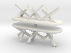 Tank Trap set (x2) 1/100 in White Natural Versatile Plastic