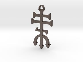 Mysteries of Exu Pendant in Polished Bronzed-Silver Steel