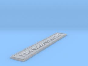 Nameplate RMS Queen Elizabeth 2 in Smoothest Fine Detail Plastic