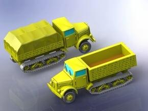 German KHD S3000 Maultier Halftrack Trucks 1/144 in Smooth Fine Detail Plastic