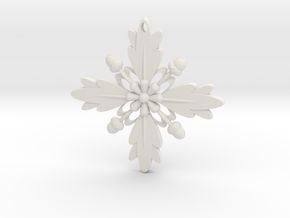 Grand Central Snowflake - 3D in White Natural Versatile Plastic