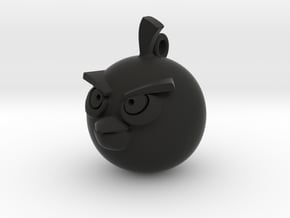 Angry Birds-Bomb Keychain in Black Natural Versatile Plastic