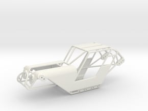 SCX24 Fat Girl Buggy with body panels in White Natural Versatile Plastic