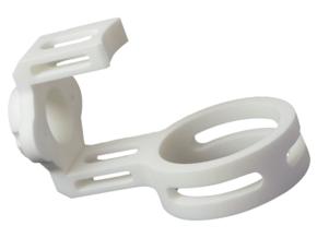 Door Lock Installation Fixture in White Natural Versatile Plastic