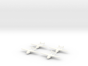 Go-242 German Glider 1/600 X4 in White Processed Versatile Plastic