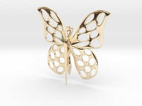 Visland Butterfly Pin in 14k Gold Plated Brass