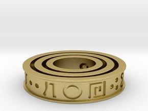 Wheel of Power in Natural Brass (Interlocking Parts)