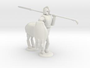 Armored Centaur in White Natural Versatile Plastic