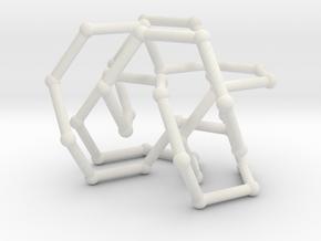 Pretzel knot in FCC lattice in White Natural Versatile Plastic