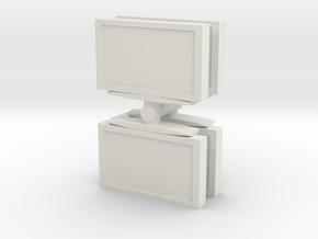 Television (x4) 1/56 in White Natural Versatile Plastic