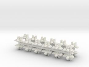 XM002 Passalla AstroFighter in White Natural Versatile Plastic