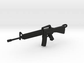 M16 Keychain in Black Natural Versatile Plastic