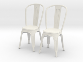 Chair 09. 1:24 Scale in White Natural Versatile Plastic
