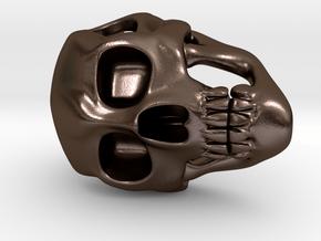 Skull Pendant in Polished Bronze Steel