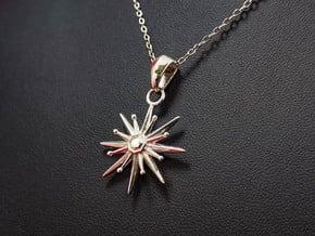 Starburst Pendant in Polished Silver (Interlocking Parts)