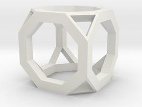 12mm lawal skeletal truncated cube gmtrx 1 in White Natural Versatile Plastic