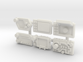 Wrist Comms, Variety (5mm) in White Natural Versatile Plastic: Medium