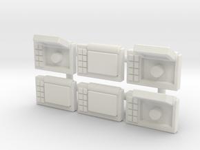 Wrist Comms, Square (5mm) in White Natural Versatile Plastic: Medium