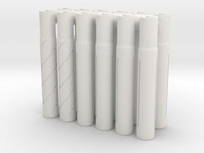 Expandable Barrel Lap (12 Pack) in White Natural Versatile Plastic