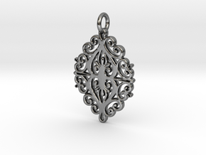 Yakutian Nature Tracery Pendant in Polished Silver