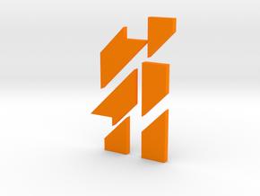 IQGeek puzzle, letter  in Orange Processed Versatile Plastic