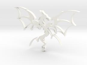Dragon in White Processed Versatile Plastic