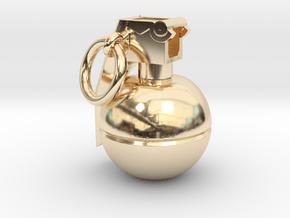 CS:GO - Grenade Pendant in 14K Yellow Gold