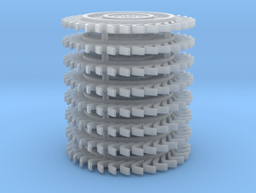 1/64 scale Hay Rake wheel x 8 pcs in Smooth Fine Detail Plastic