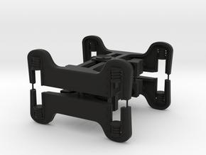 Puffing Billy Fox Bogies 1:19 Scale 45mm Gauge v2 in Black Natural Versatile Plastic