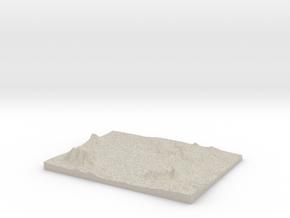 Model of Antero Reservoir in Natural Sandstone