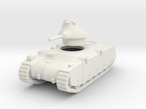1/43 G1R French tank in White Natural Versatile Plastic