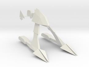 1/2500 23rd Century Combat Eta Lyrae Frigate in White Natural Versatile Plastic