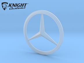 UMG1005 UMG MERC Badge in Smooth Fine Detail Plastic