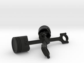 Easy Rider Skull (Piston Stand) Biker Ring Box in Black Natural Versatile Plastic