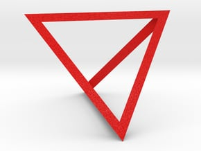 tetrahedron in Natural Full Color Sandstone