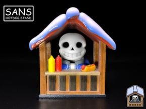 Sans Hotdog Stand - Undertale Figure / Ornament in Glossy Full Color Sandstone