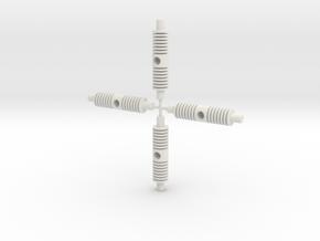 Battle Cruiser Arm in White Natural Versatile Plastic: Large