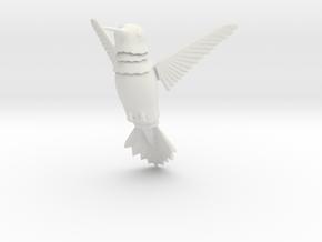 Wiggling Hummingbird in White Natural Versatile Plastic