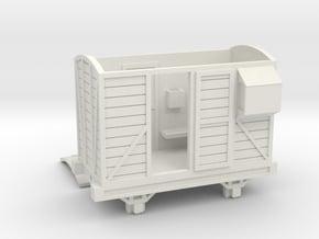 OO9 Brake Van - Open Door in White Natural Versatile Plastic