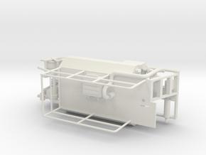1/64th Hydroseeder 12' Skid sprayer in White Natural Versatile Plastic