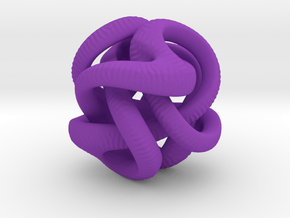 Yayene Sculpture  in Purple Processed Versatile Plastic: Small